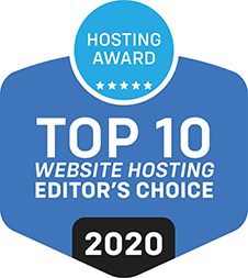 Top 10 Web Hosting Editor Choice 2020 Award for ScaleGrid